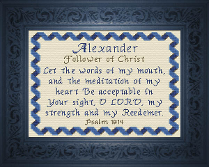 Name Blessings -  Alexander 2 | Crafting | Cross-Stitch | Religious