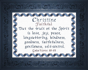 Name Blessings -  Christine 3   Crafting   Cross-Stitch   Other