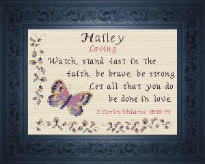 name blessings -  hailey