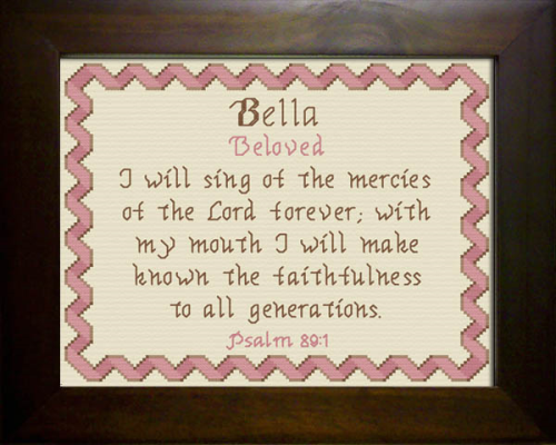 First Additional product image for - Name Blessings -  Bella