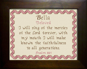 Name Blessings -  Bella | Crafting | Cross-Stitch | Religious