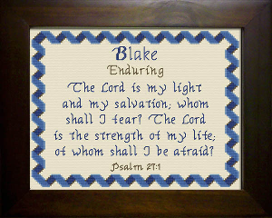 Name Blessings - Blake | Crafting | Cross-Stitch | Religious