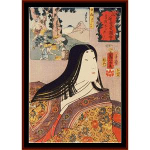 woman v - asian art cross stitch pattern by cross stitch collectibles