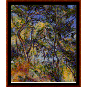 Forest, 1894 - Cezanne cross stitch pattern by Cross Stitch Collectibles | Crafting | Cross-Stitch | Wall Hangings