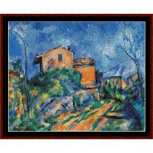 Maison Maria, 1895 - Cezanne cross stitch pattern by Cross Stitch Collectibles | Crafting | Cross-Stitch | Wall Hangings