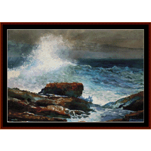 incoming tide - scarborough, maine - homer cross stitch pattern by cross stitch collectibles