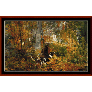on the trail - homer cross stitch pattern by cross stitch collectibles