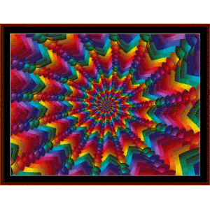 fractal 465 cross stitch pattern by cross stitch collectibles