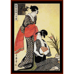 lower class - asian art cross stitch pattern download