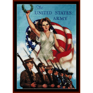 us army  then now and forever - american history cross stitch pattern download