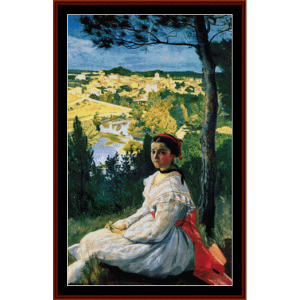 Village View - Bazille cross stitch pattern by Cross Stitch Collectibles | Crafting | Cross-Stitch | Wall Hangings