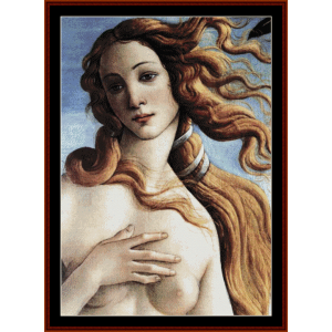La Naissance de Venus II - Botticelli cross stitch pattern by Cross Stitch Collectibles | Crafting | Cross-Stitch | Wall Hangings