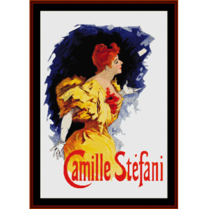 Camille Stefani - Cheret cross stitch pattern by Cross Stitch Collectibles | Crafting | Cross-Stitch | Wall Hangings