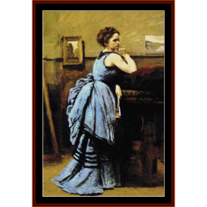 Lady in Blue - Corot cross stitch pattern by Cross Stitch Collectibles | Crafting | Cross-Stitch | Wall Hangings