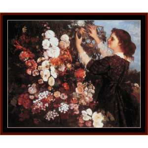 The Trellis - Courbet cross stitch pattern by Cross Stitch Collectibles | Crafting | Cross-Stitch | Wall Hangings