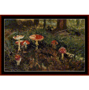 Amanita, 1879 - Shishkin cross stitch pattern by Cross Stitch Collectibles | Crafting | Cross-Stitch | Wall Hangings