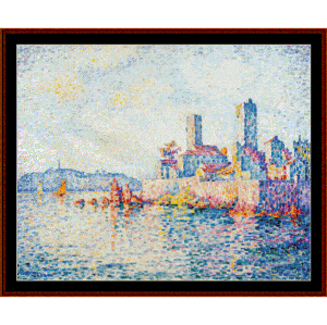 antibes, the towers - signac cross stitch pattern by cross stitch collectibles