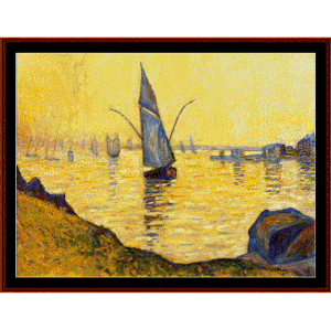concarneau study - signac cross stitch pattern by cross stitch collectibles