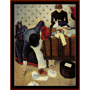 the milliner, 1885 - signac cross stitch pattern by cross stitch collectibles