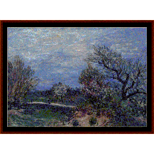 border of the woods - sisley cross stitch pattern by cross stitch collectibles