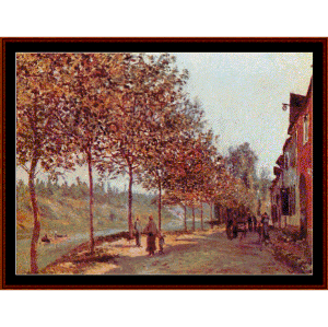 morning in june - sisley cross stitch pattern by cross stitch collectibles