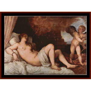 Danae, 1546 - Titian cross stitch pattern by Cross Stitch Collectibles | Crafting | Cross-Stitch | Wall Hangings