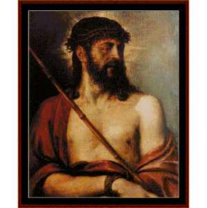 ecce homo - titian cross stitch pattern by cross stitch collectibles