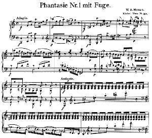 fantasia and fugue no.1, k. 394.in c major. w.a. mozart. ed. breitkopf urtext (unedited), kalmus reprint.