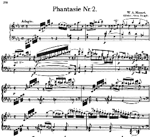 Fantasia No.2, K.396 in C minor. W.A. Mozart. Ed. Breitkopf Urtext (Unedited), Kalmus Reprint.   eBooks   Sheet Music