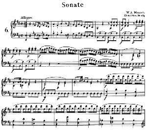 Sonata No.6, K.284 in D Major. W.A. Mozart. Ed. Breitkopf Urtext (Unedited), Kalmus Reprint. | eBooks | Sheet Music