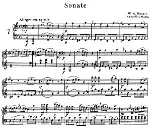 Sonata No.7, K.309 in C Major. W.A. Mozart. Ed. Breitkopf Urtext (Unedited), Kalmus Reprint. | eBooks | Sheet Music