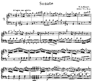 Sonata No.9, K.311 in D Major. W.A. Mozart. Ed. Breitkopf Urtext (Unedited), Kalmus Reprint. | eBooks | Sheet Music