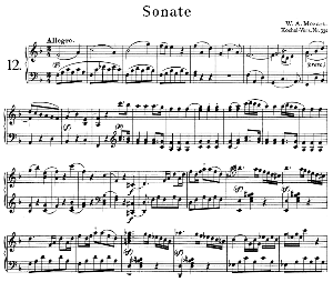 Sonata No.12, K.332 in F Major. W.A. Mozart. Ed. Breitkopf Urtext (Unedited), Kalmus Reprint. | eBooks | Sheet Music