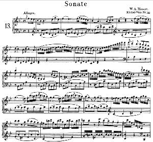 Sonata No.13, K.333 in B-Flat Major. W.A. Mozart. Ed. Breitkopf Urtext (Unedited), Kalmus Reprint.   eBooks   Sheet Music