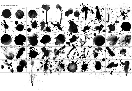 Third Additional product image for - 50 HQ Splatter Brushes for Photoshop