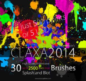30 hq pro splatter brushes for photoshop