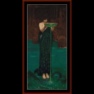 circe indiviosa, 1892 - waterhouse cross stitch pattern by cross stitch collectibles