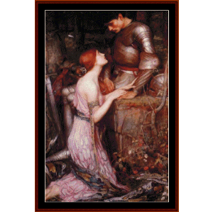 lamia and the solder - waterhouse cross stitch pattern by cross stitch collectibles