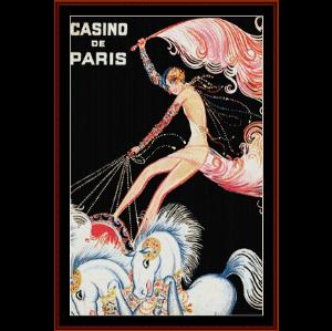 casino de paris - vintage poster cross stitch pattern by cross stitch collectibles