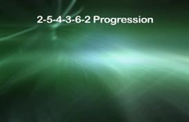 chord progression 2-5-4-3-6-2