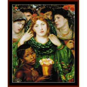 the beloved - dante rossetti cross stitch pattern by cross stitch collectibles