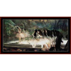 Ballet at the Opera House - Degas cross stitch pattern by Cross Stitch Collectibles | Crafting | Cross-Stitch | Wall Hangings