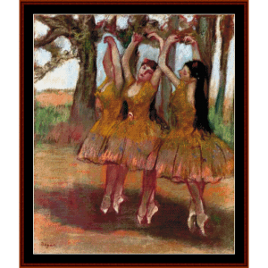 grecian dance - degas cross stitch pattern by cross stitch collectibles