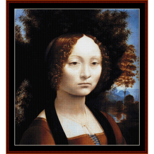 Ginevra Benci - DaVinci cross stitch pattern by Cross Stitch Collectibles | Crafting | Cross-Stitch | Wall Hangings