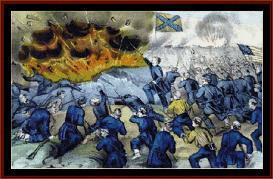siege and capture of vicksburg - civil war cross stitch pattern by cross stitch collectibles