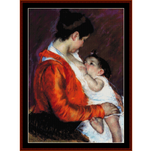 nursing - cassatt cross stitch pattern by cross stitch collectibles