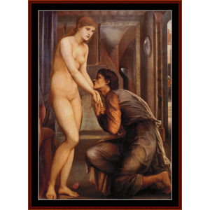 Pygmalion - Burne-Jones cross stitch pattern by Cross Stitch Collectibles | Crafting | Cross-Stitch | Wall Hangings