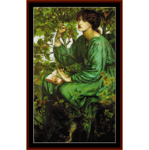 day dreamer - dante rossetti cross stitch pattern by cross stitch collectibles