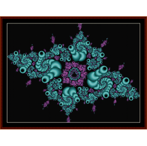 fractal 102 cross stitch pattern by cross stitch collectibles