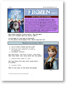 frozen, whole-movie english (esl) lesson